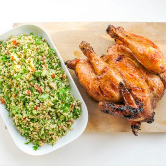 Hunajaista kananpoikaa ja tabbouleh salaattia